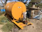1,000 Gallon Fuel Tank on Skids, w/Old Gas Engine