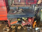Metal Shop Bench on Castors