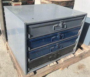 4-Drawer Small Parts Cabinet w/contents