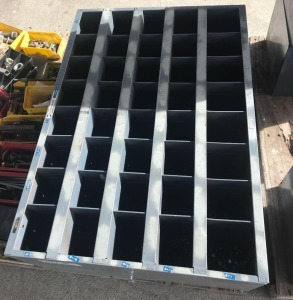 40 Hole Bolt Bin w/contents & Extra Bolts