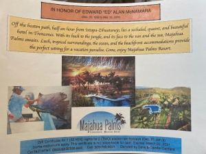 Paradise for 2- Majahua Palms Resort - in memory of Ed McNamara donated by Dave & Candie Canfield