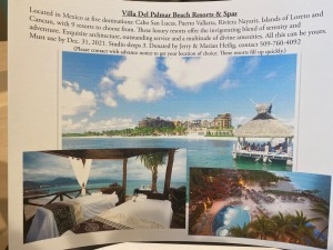 Villa Del Palmer Beach Resorts & Spas donated by Jerry & Marian Heilig