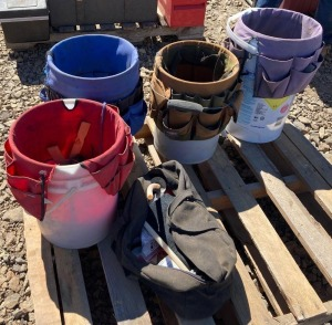 Bucket Totes w/ Contents