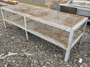 "Expanded Metal Work Bench 86"" Wide 27"" High 30"" Deep"