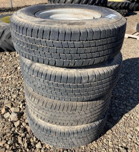 (4) Michelin LT245/75R18 8 Hole Rims