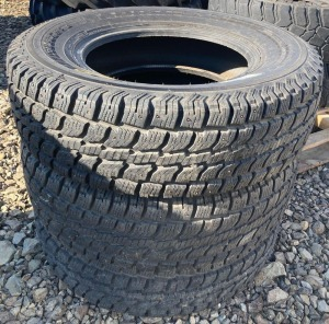 (3) LT245/75R17 Studded Tires