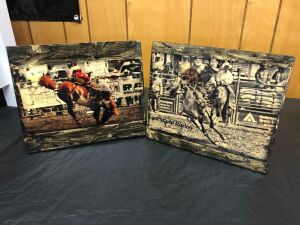 Rodeo Pictures on Wood