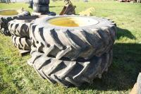 Pr. 18.4R38 Tractor on JD 9-Hole Rims