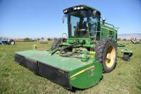 2011 JD R450 Swather w/2011 JD 990 Rotary Header