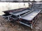 (6) Plastic Feed Troughs